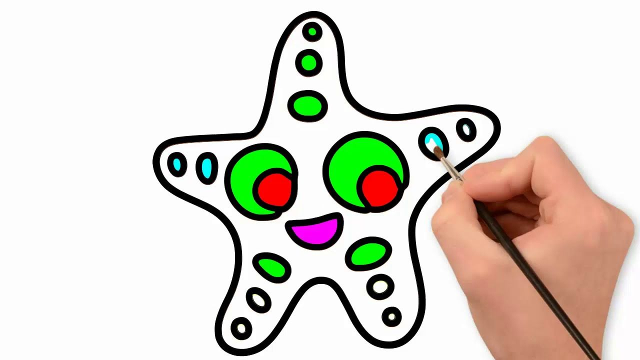 Drawing Star Coloring For Kids How To Draw Stars Drawing Stars Coloring For Kids Peppa Pig Colouring