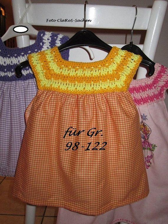 Kleidchen Mit Häkelpasse Anleitung F Gr 98 Von Clarosdesigns