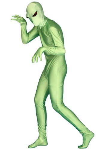 Green Alien Invisible Man (Large)  - Click image twice for more info - See a larger selection of  scary props at http://costumeriver.com/product-category/scary-props/ - halloween, events, holiday , trick or treat, scary, costume, halloween party , halloween decoration