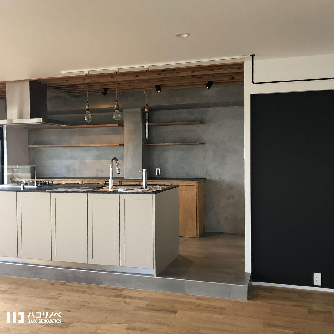 2018 04 24 床上げをしてアイランドキッチン仕様に 無垢の材質と