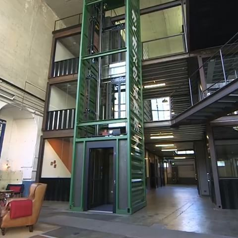 Awesome Elevator Idea Using A Shipping Container · Shipping Container  HomesShipping ContainersElevator DesignIndustrial ...