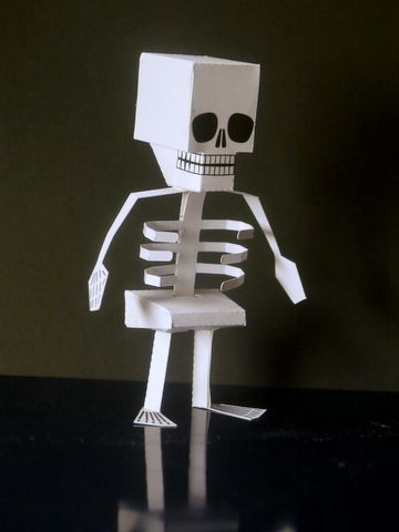 Papercraft Skeleton A Halloween Papecraft Project For Kids Free