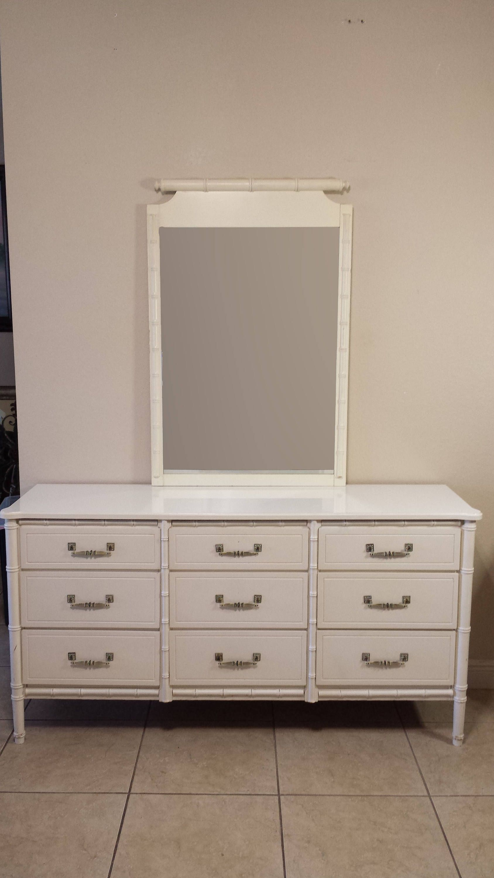 Henry Link Faux Bamboo Dresser With Mirror Reproduction By Degfurnituredesigns On Etsy