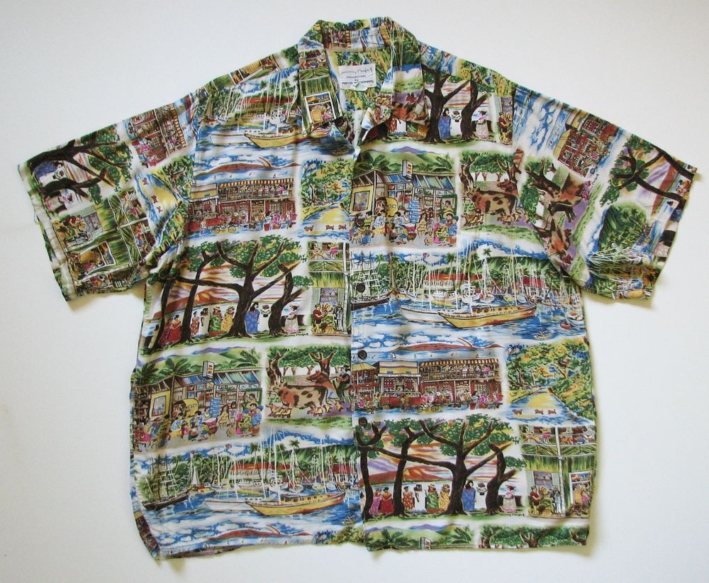 06a7a7e1 REYN SPOONER GUY BUFFET MENS XL RAYON BUTTON CAMP HAWAIIAN SHIRT  #ReynSpooner #Hawaiian