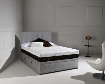 Dormeo Octaspring Matras : Dormeo octaspring tiffany ottoman fabric divan bed with 6500 mattress