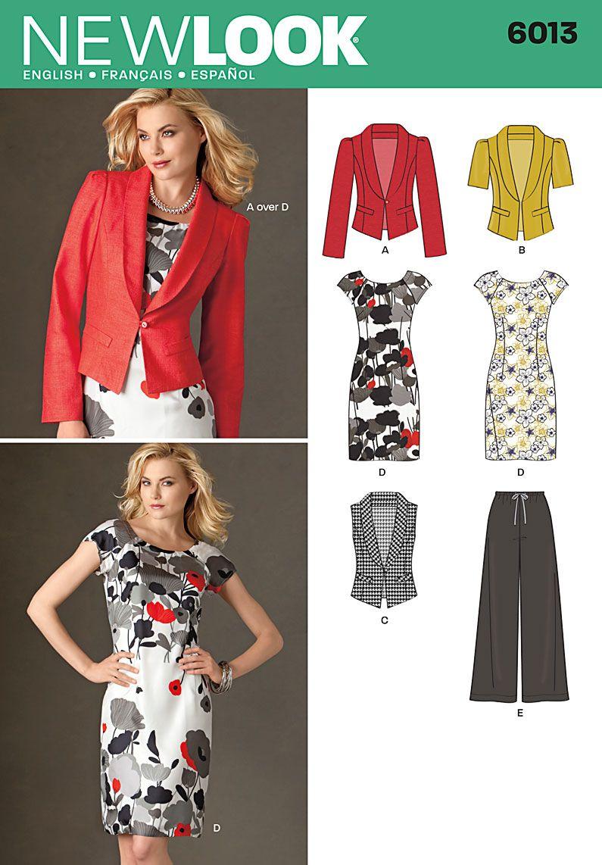 New Look 6013 Misses\' Separates | Shiftkleid, Erwachsene und Nähe