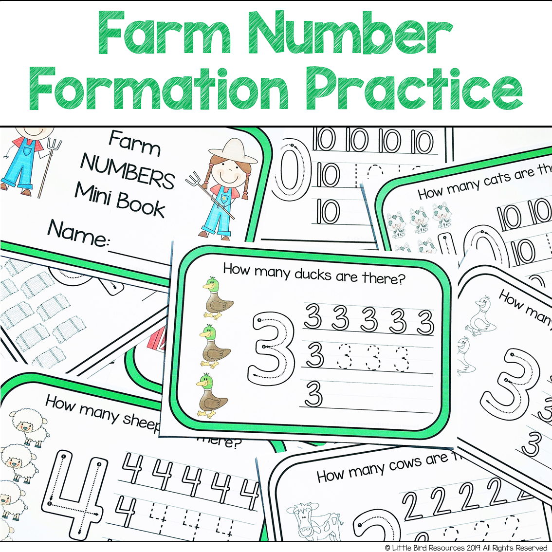 Farm Number Formation Practice Numbers 1