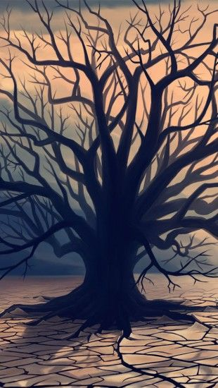 Deserts lone tree - theiphonewalls.com