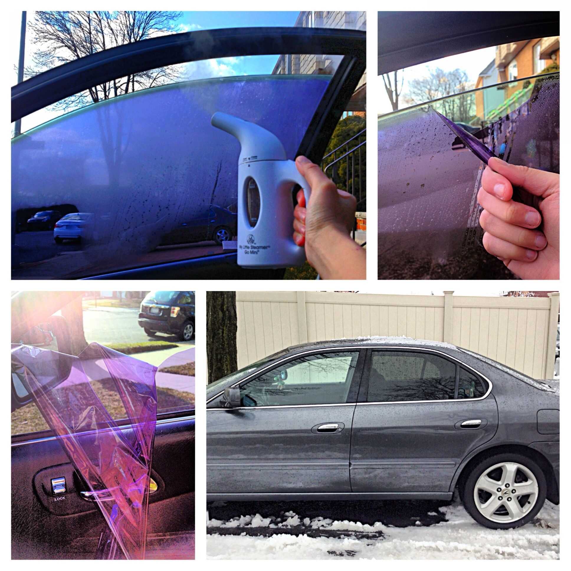 How to remove window tints. Go to my Instagram for stepby