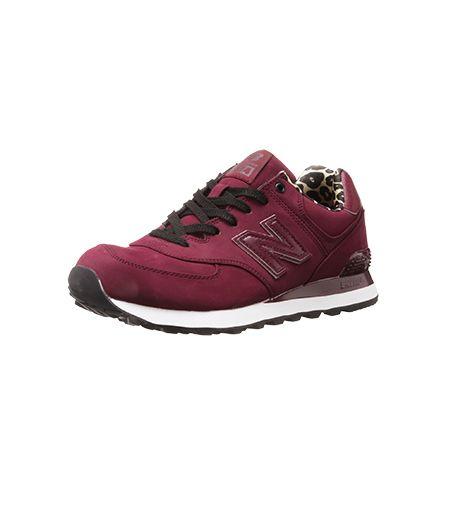 @Alex Leichtman M What Wear - New Balance WL574 High Roller Running Shoe ($69) in Burgundy
