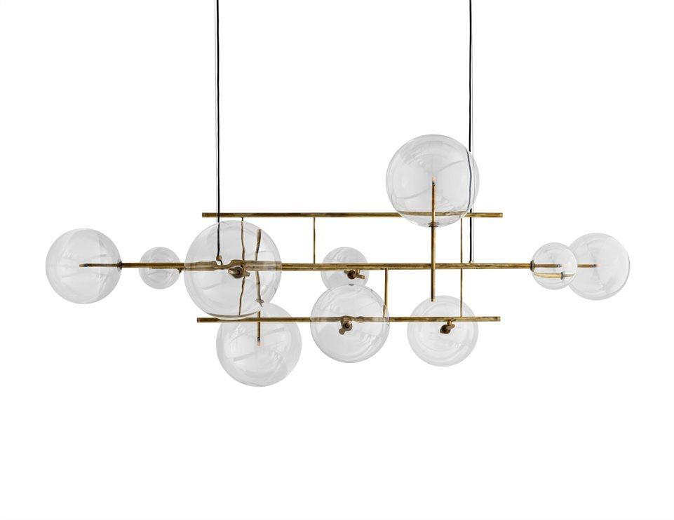 Bolle Orizzontale Long Pendant Lights Light Suspension Lamp