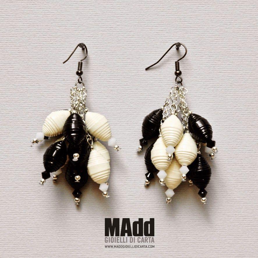MAdd Gioielli di carta / MAdd Paper jewels: «GISELE» PARURE / ORECCHINI - EARRINGS