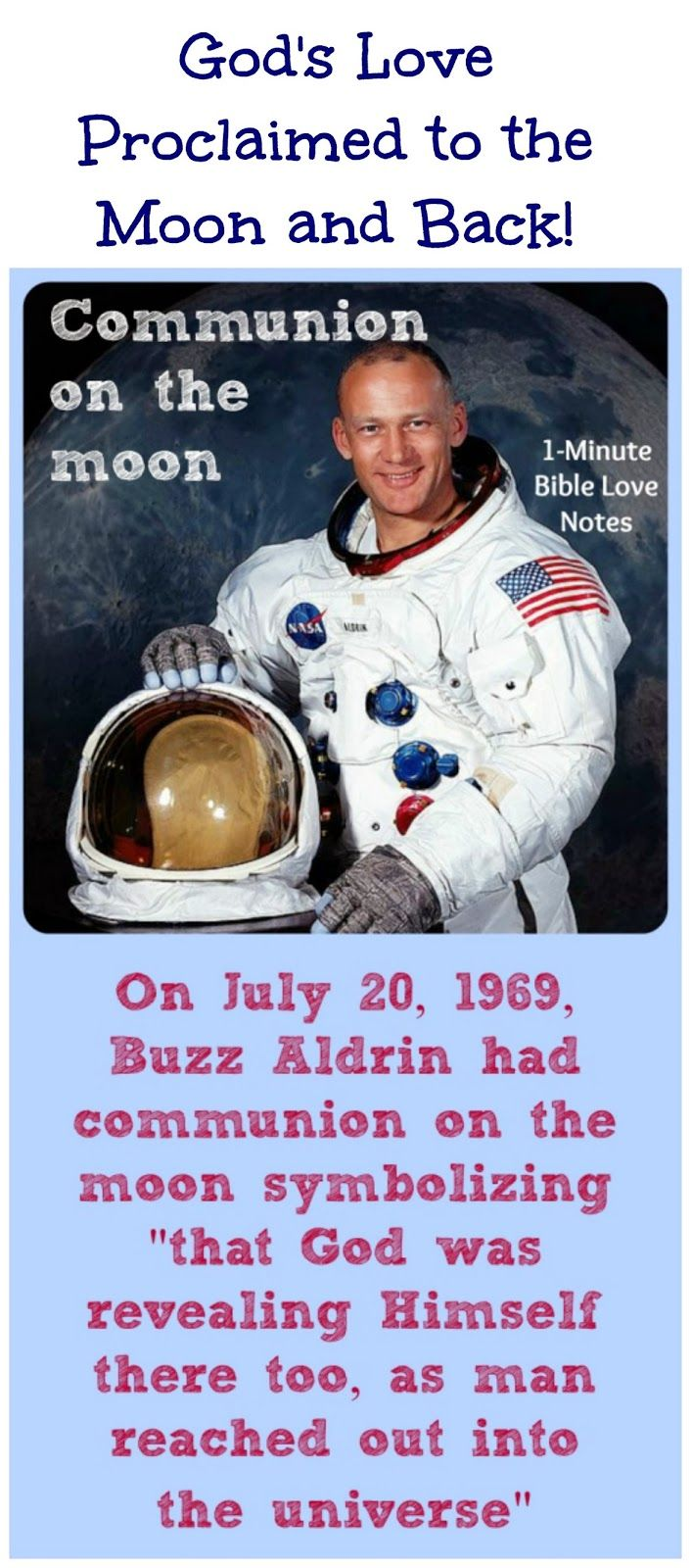 Image result for Free pic of Aldrin celebrating communion on moon