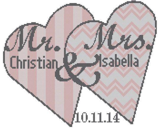 Modern Wedding Cross Stitch Pattern/Wedding Cross Stitch Pattern ...