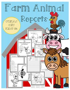 Farm Animal Reports Research Informative Writing Bundle
