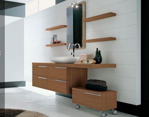 holz badezimmermöbel regale rechteck schränke artesi Bäder Pinterest