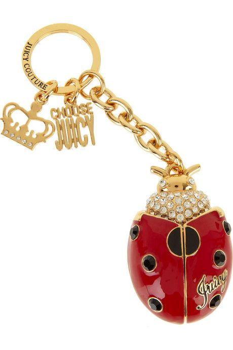 Juicy Couture ladybug key ring