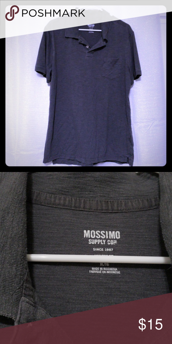 Mossimo Short Sleeve Gray Polo Athletic Fit In 2018 My Posh Picks
