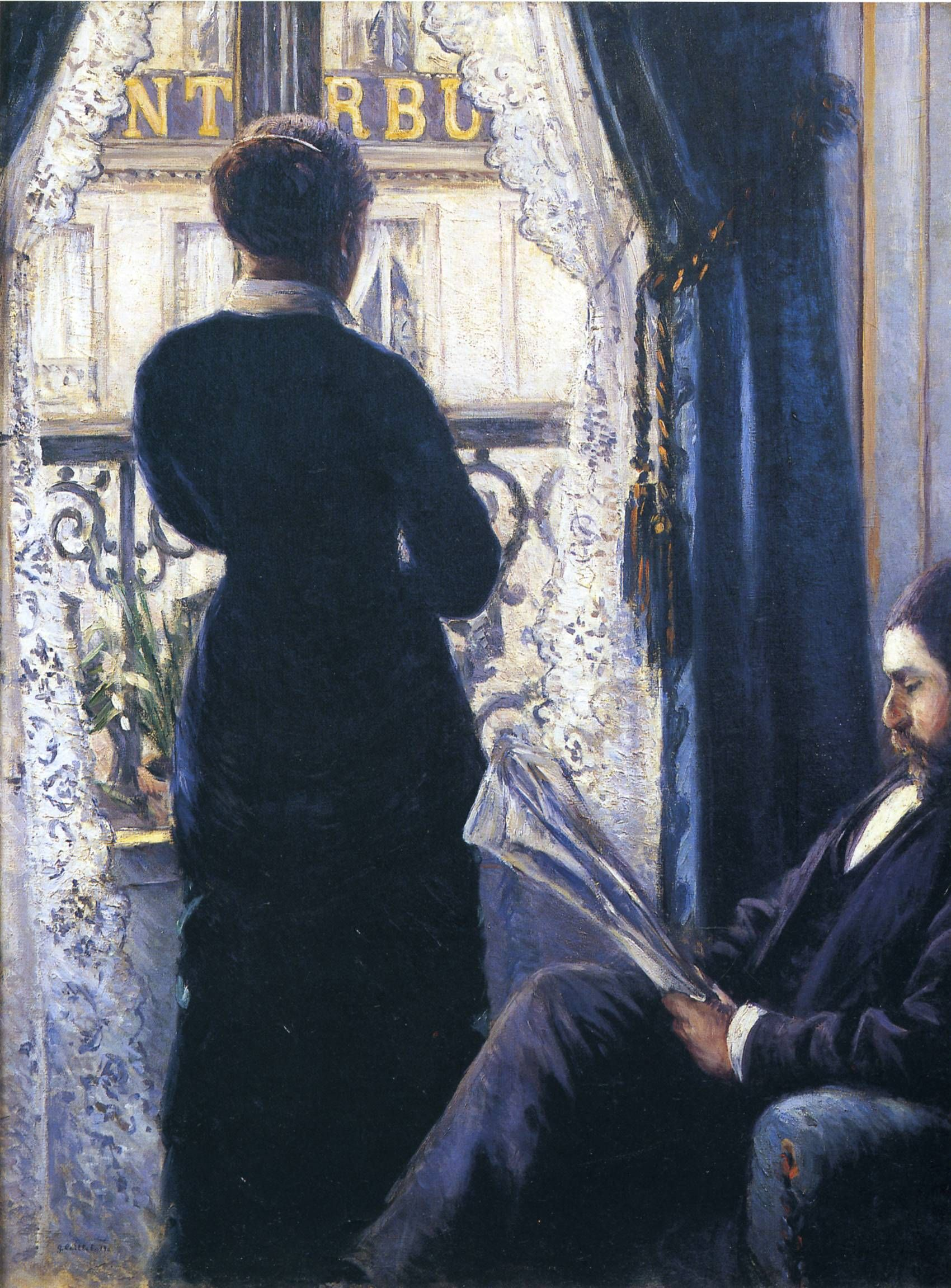Interior Woman At The Window Gustave Caillebotte Art Window