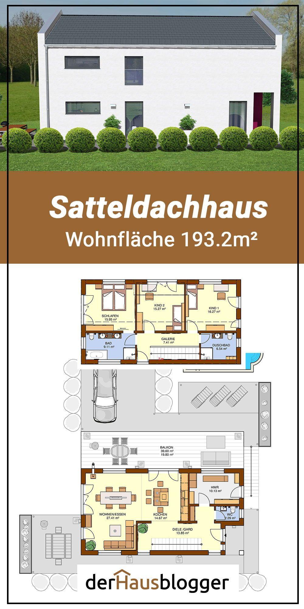 Satteldachhaus 193.2m² Haus, Grundriss einfamilienhaus