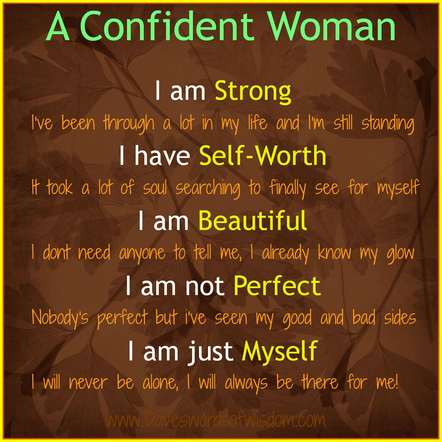 Confident Women Quotes Daveswordsofwisdom A Confident Woman  Eat & Live Well