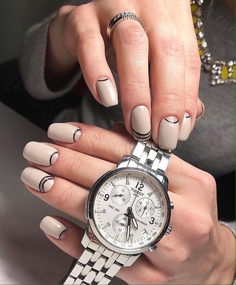 Nail Art #3473 - Best Nail Art Designs Gallery | Beige nail, Moon ...