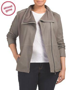 Plus Leather Lanna Coat