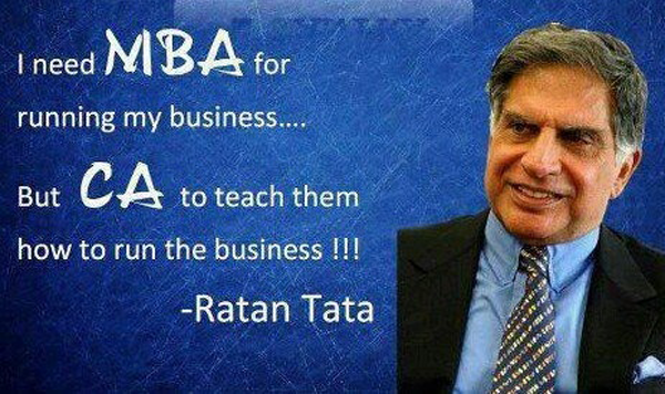 I Need Mba For Running My Business But Ca To Teach Them How To Run The Business Ratan Tata Life Quotes Quotes Writing A Book