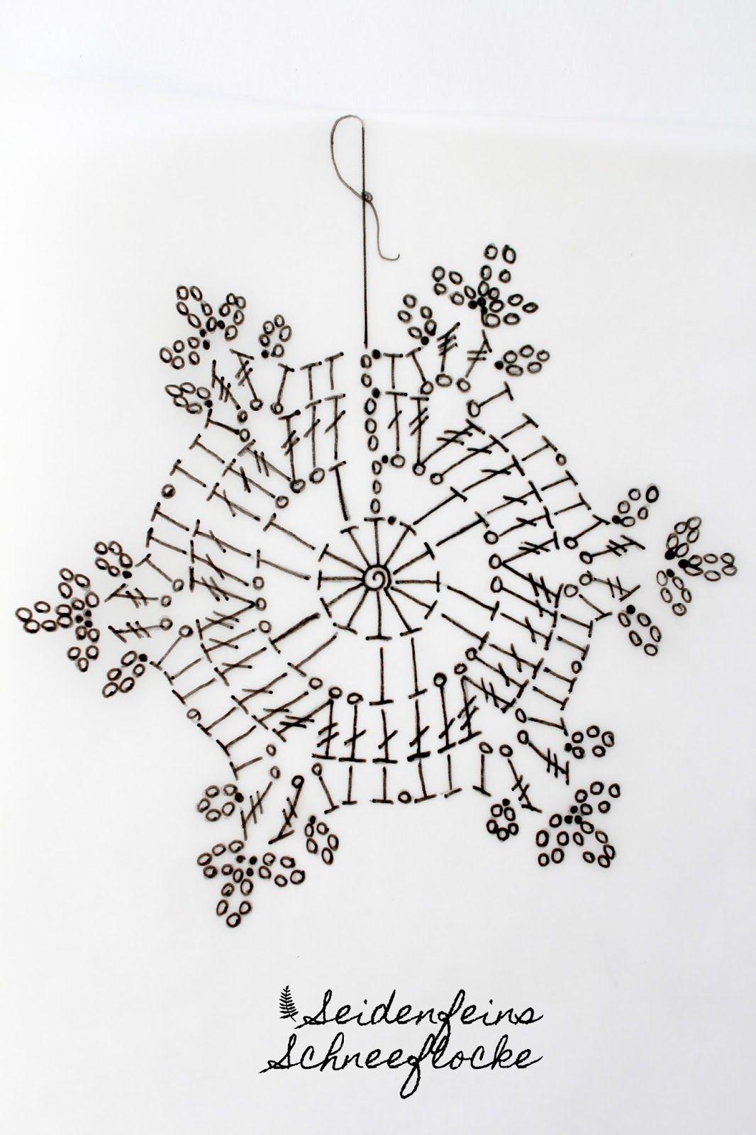 Häkeln Schneeflocken Anleitungtutorial Crocheting Crochet