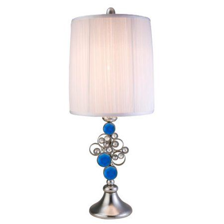 28 inch just dazzle buffet table lamp silver