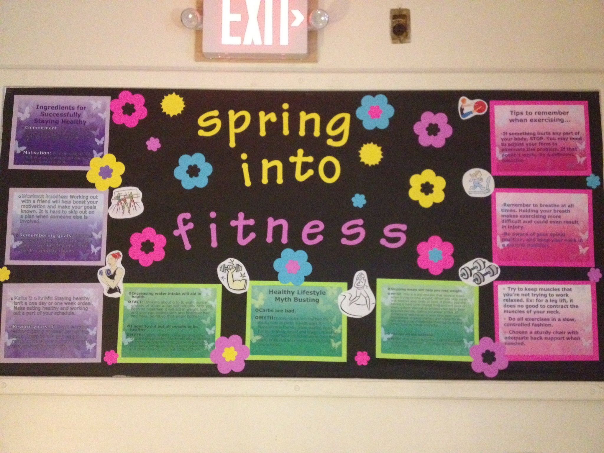 Spring Into Fitness Bulletin Board