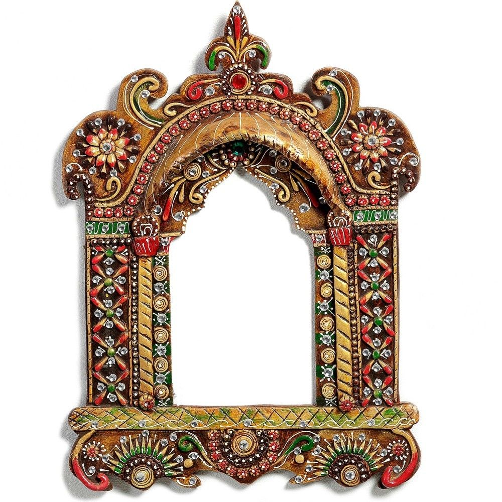 Buy handmade wooden hanging jharokha with