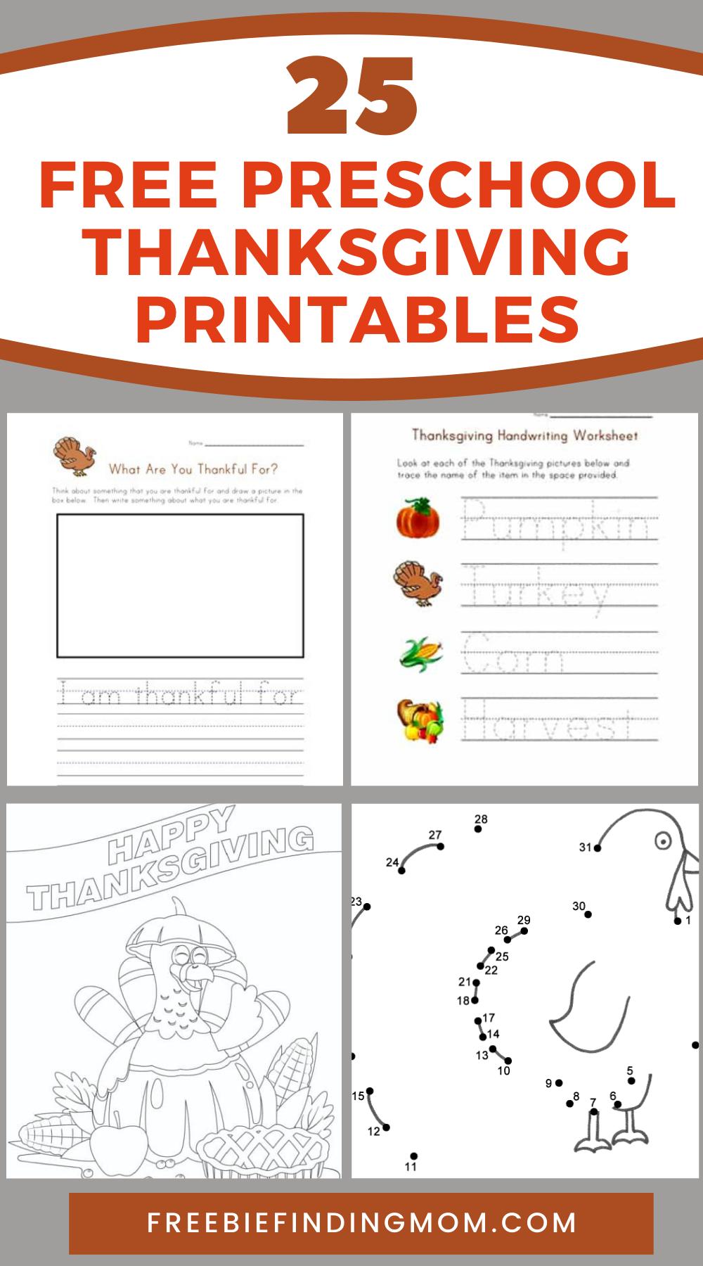 25 Free Preschool Thanksgiving Printables Freebie Finding Mom Thanksgiving Preschool Thanksgiving Crafts Preschool Free Preschool [ 1800 x 1000 Pixel ]
