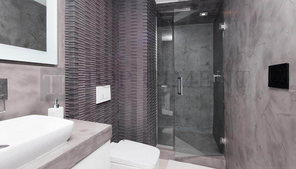 Revestimiento para duchas y zonas humedas con microcemento for Banos de microcemento alisado