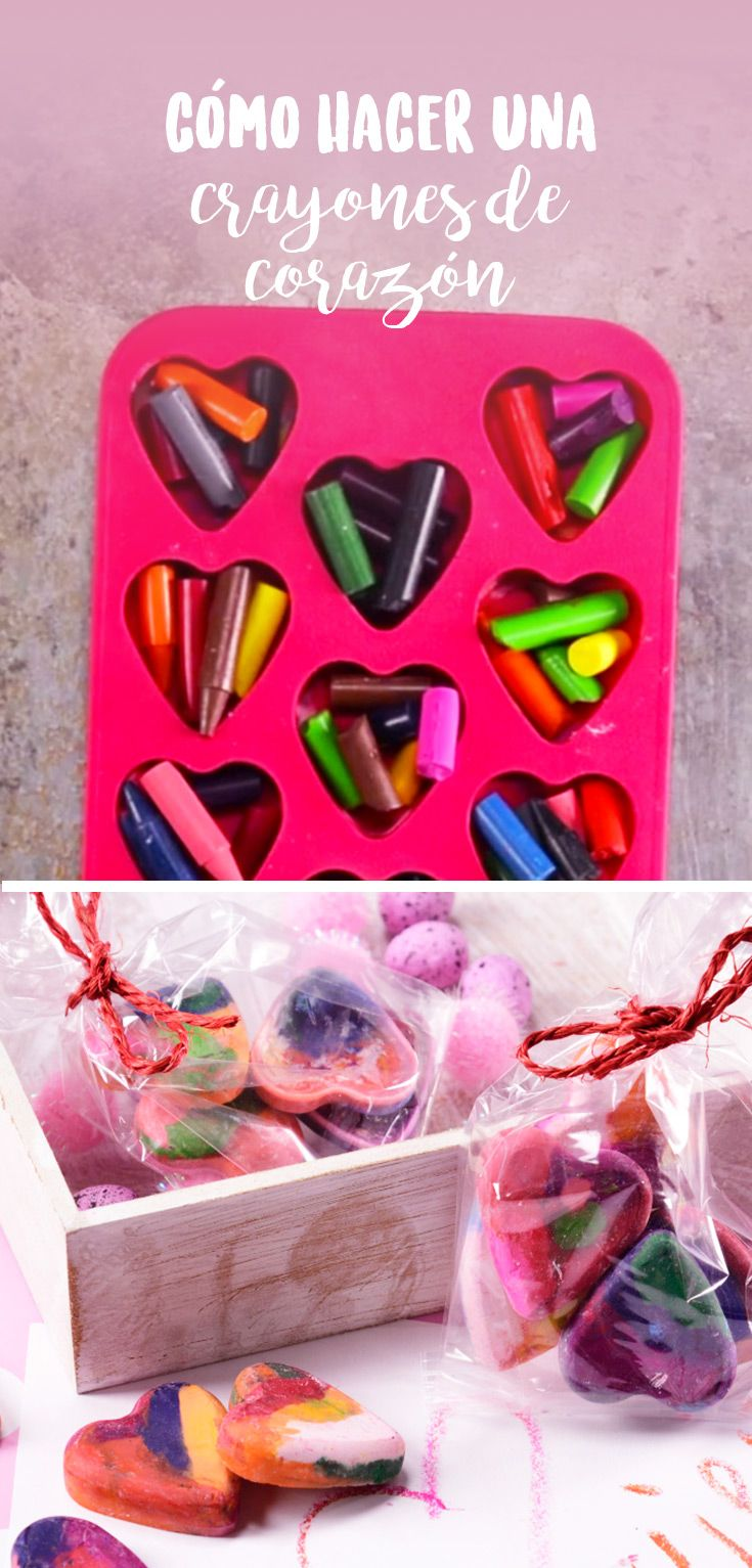 a0f40c372e3d Cómo hacer crayones de corazón | Manualidades | Manualidades ...
