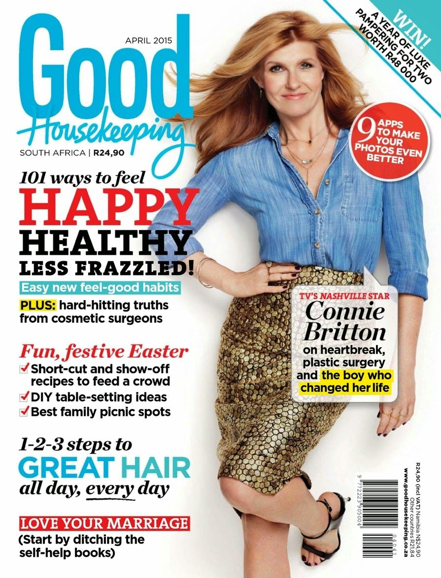Actress @ Connie Britton - Good Housekeeping South Africa, April 2015.  South AfricaGood HousekeepingCoverPdf MagazinesSlipcovers