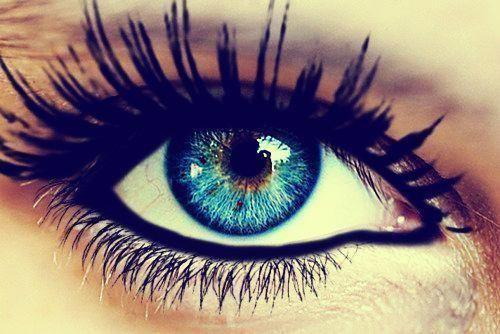 beautiful, black, blue eyes, make up