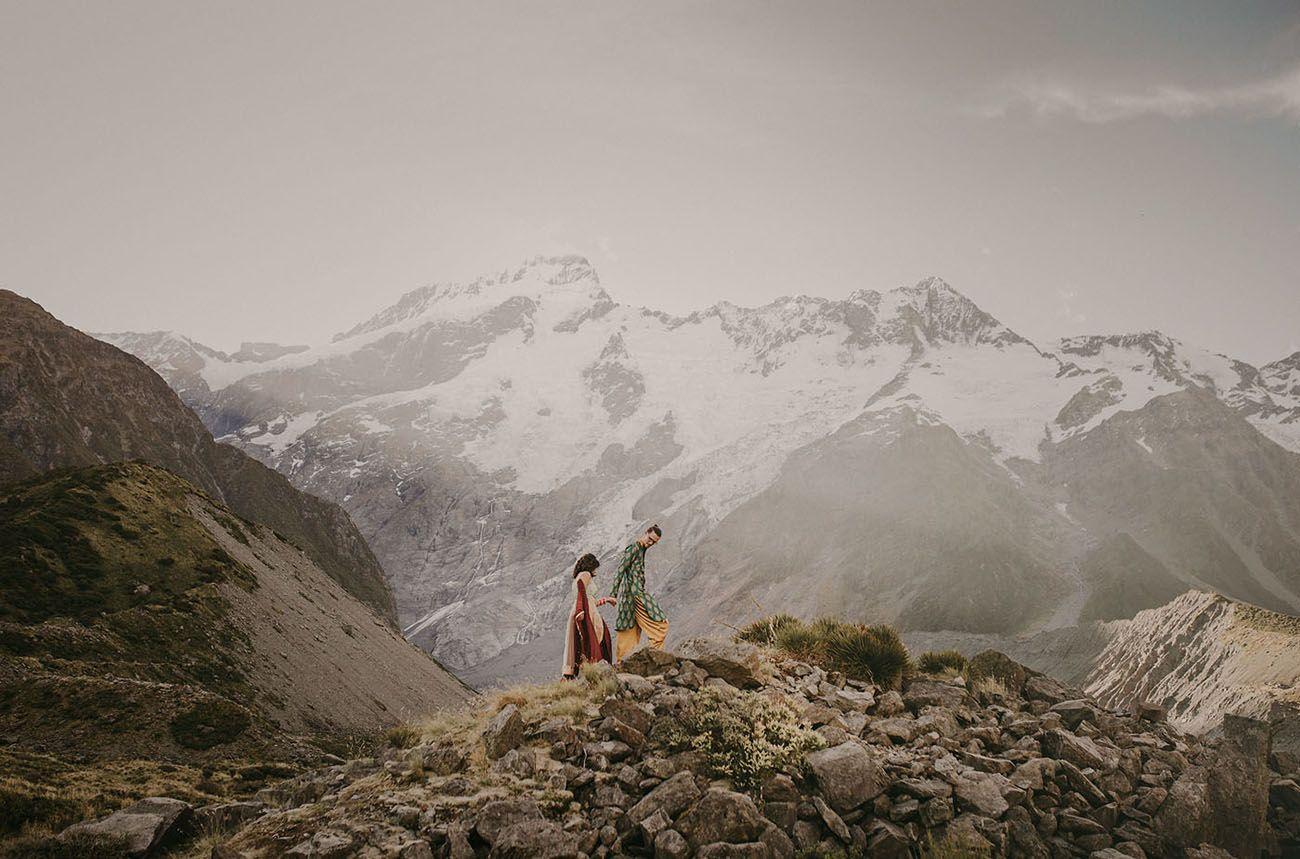 Epic Punjabi Elopement In New Zealand Elopements Pinterest