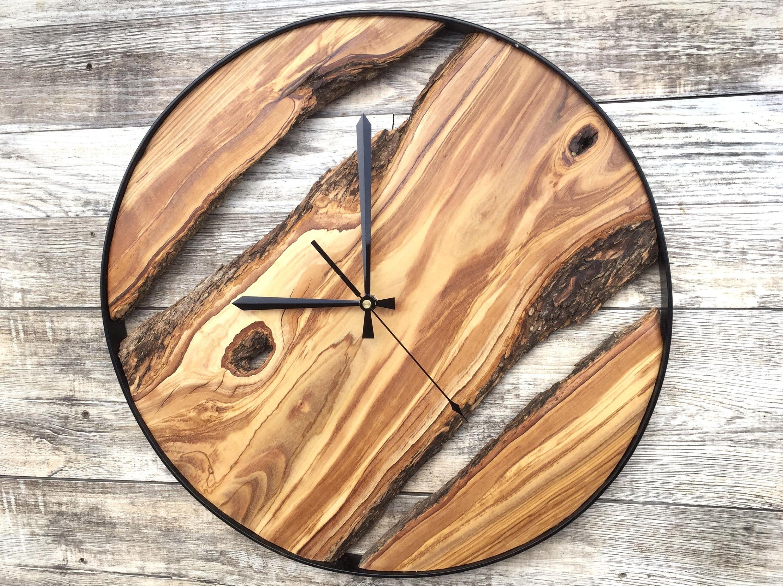 Wood Wall Clock Wooden Clock Natural Wood Clock Wooden Wall Clock Clocks For Wall Rustic Wall Clock Unique Wall Clock 2020