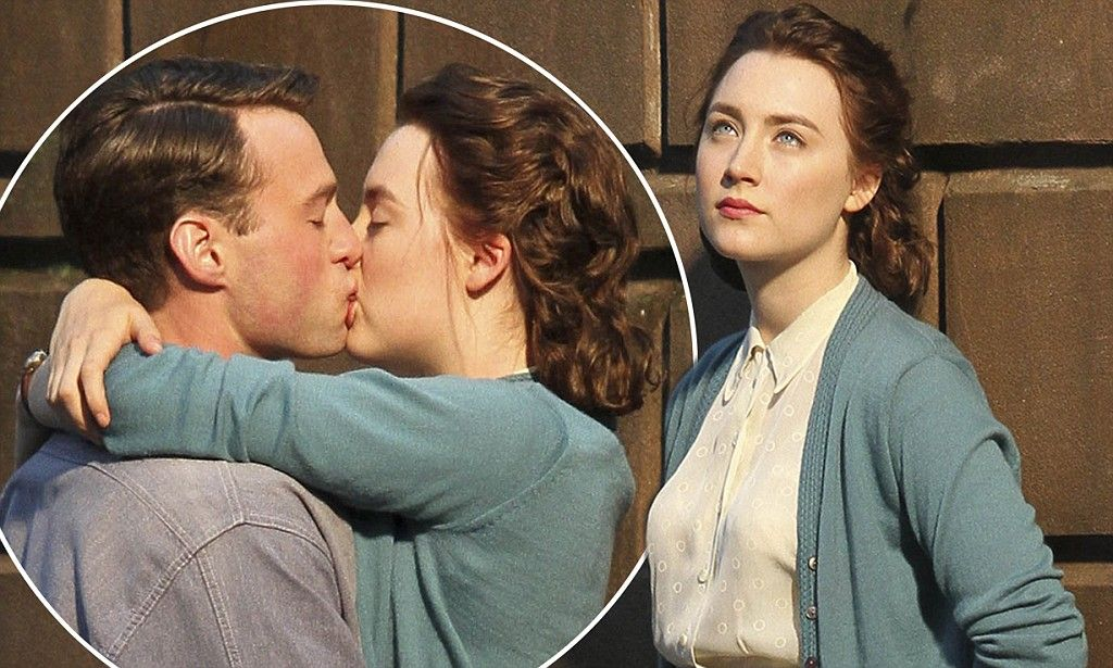 Saoirse Ronan shares kiss with Emory Cohen on set of new