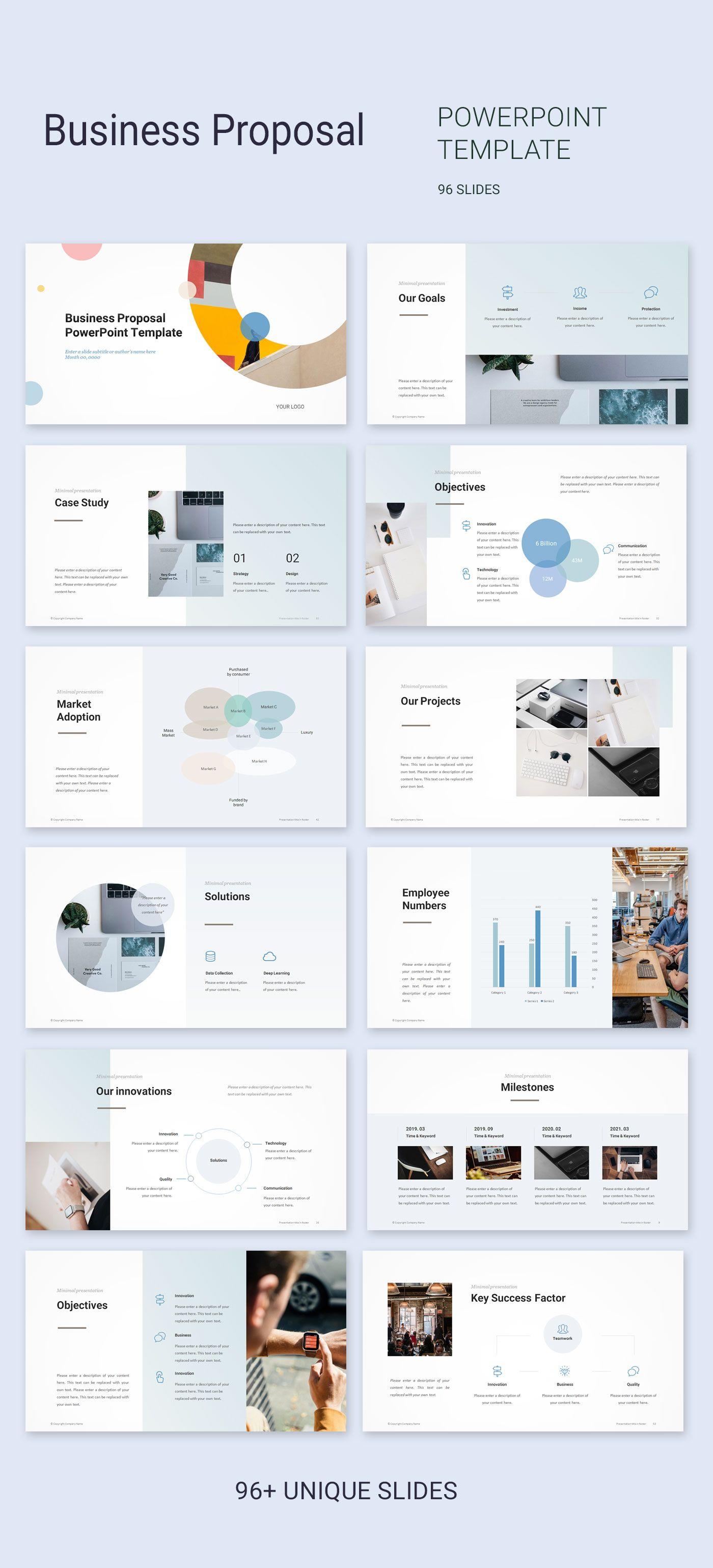 Business Proposal Powerpoint Template Powerpoint Presentation Design Ppt Template Design Presentation Design Layout