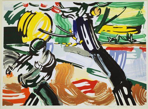 The Sower from the Landscapes Series | Roy Lichtenstein (American, 1923–1997) |  #pop_art #lichtenstein | http://www.pinterest.com/richtapestry/pop-art/