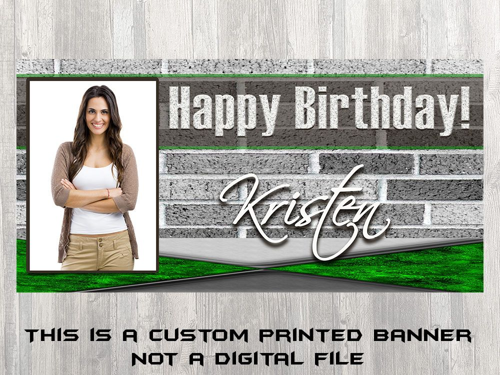 Brick Natural Birthday Banner For Discount On Shipping Use Natural Birthday Birthday Banner Banner Printing