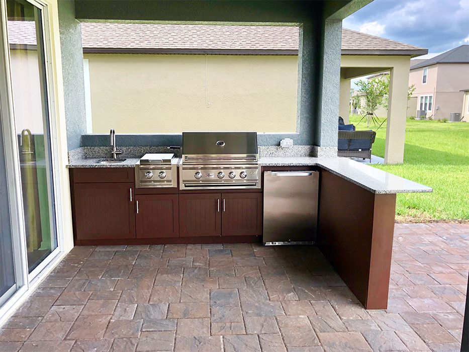 L Shape Outdoor Kitchen With Side Burner Kitchen Design Layout Modern Diy Outdoor Kitchen Bar Countertops