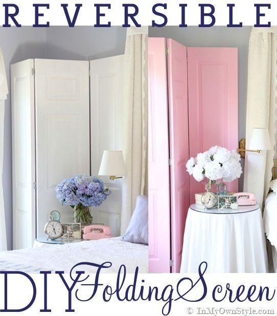 DIY: How To Make a Decorative Folding Screen | Diy home ...