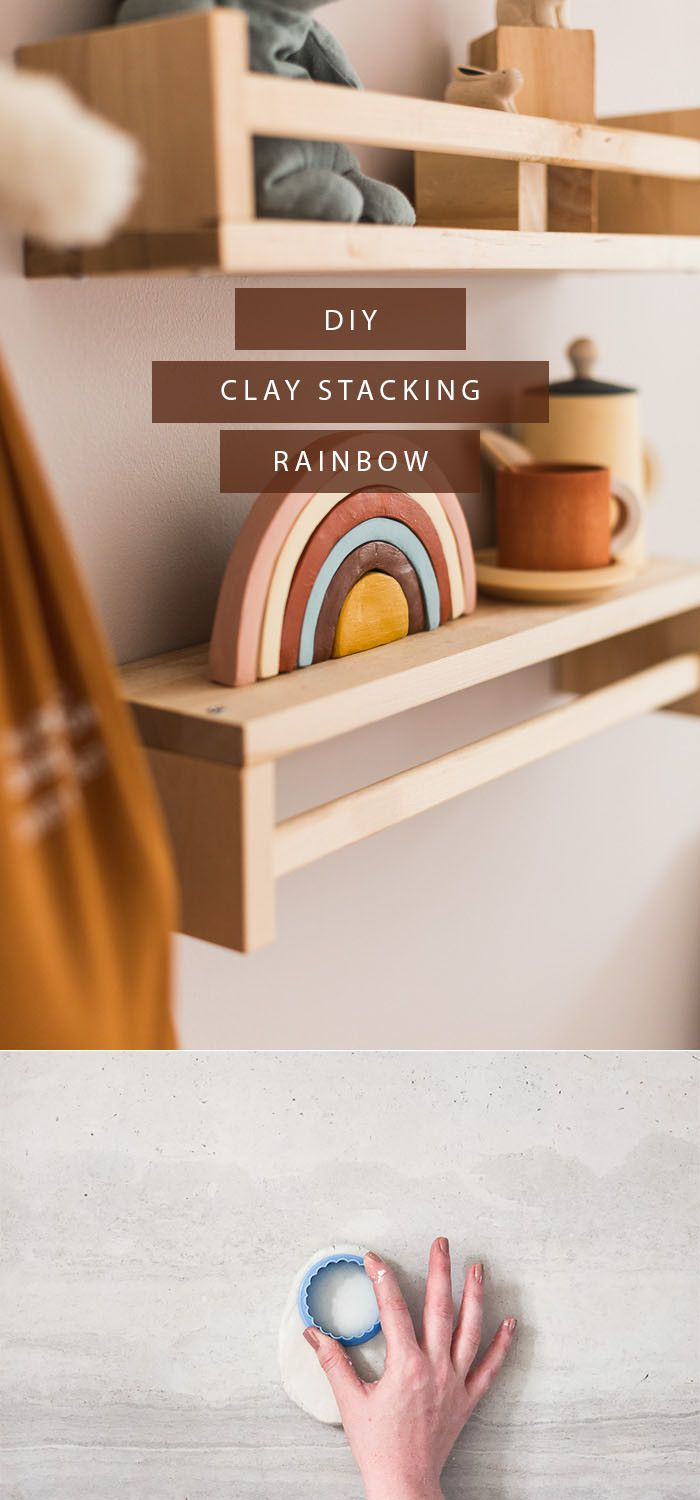 Photo of DIY Air Dry Clay Rainbow Decoration | Fall For DIY