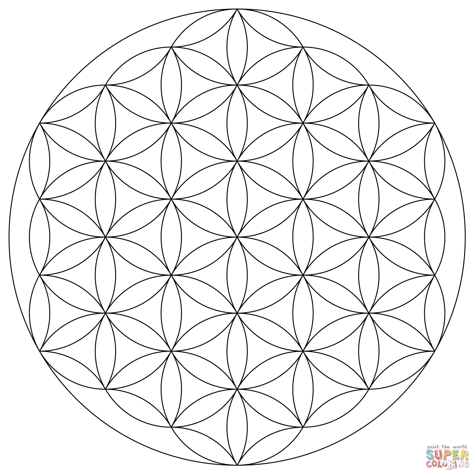 Coloriage Mandala Fleur De Vie Categories Motifs Coloriages