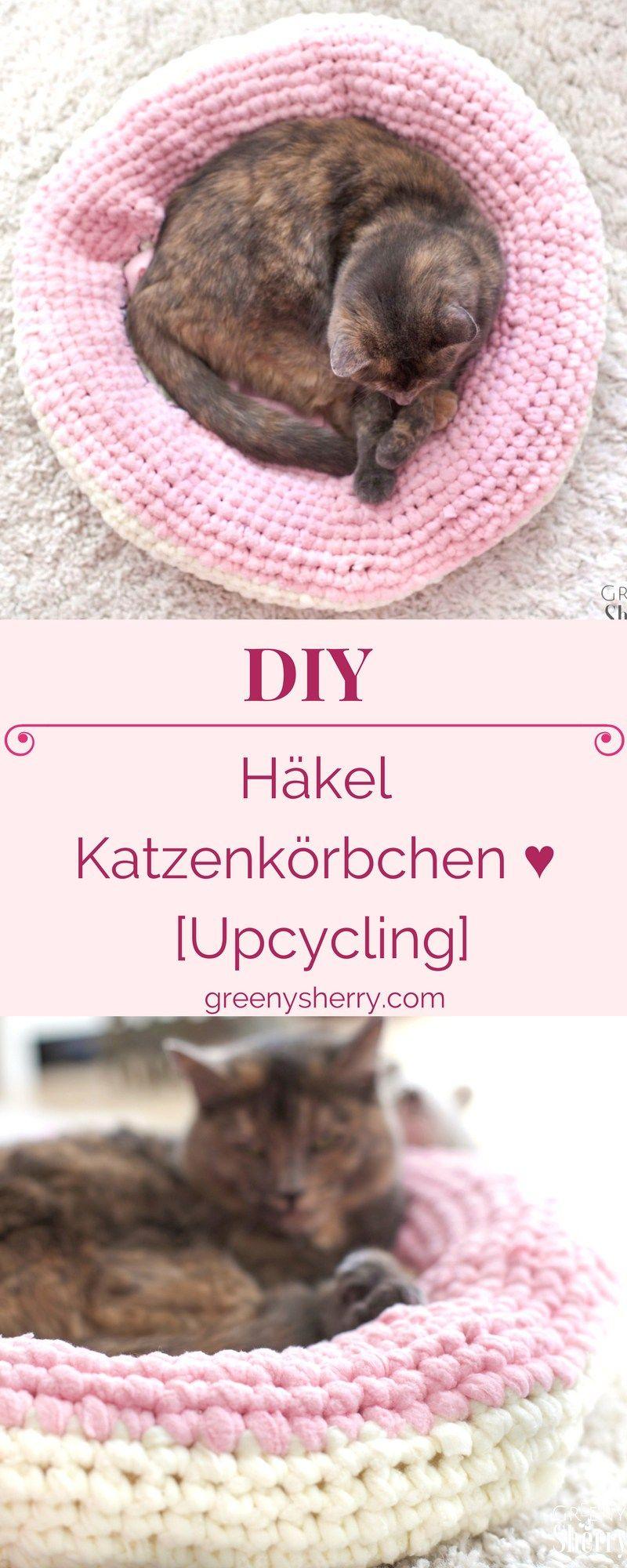 Photo of Valentinstag DIY: Häkeln Sie Katzenkorb [Upcycling] – Greeny Sherry – Vegane Rezepte & Live Green (er) | veganes Essen & Leben