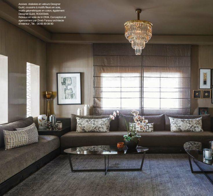inspiratie sedari marokko Salons marocain Pinterest Salons - moderne marokkanische wohnzimmer
