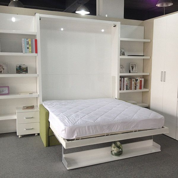 Space Saving Bed With Stroage Cabinet Multifunctional